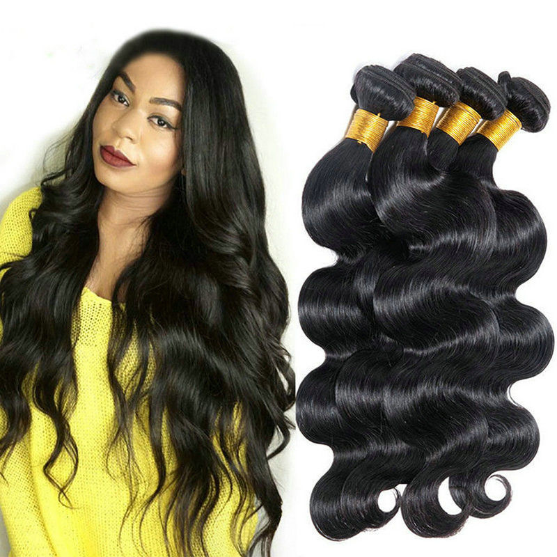 20 Inch Hair Extensions 100% Brazilian Body Wave / Virgin Remy Human Hair